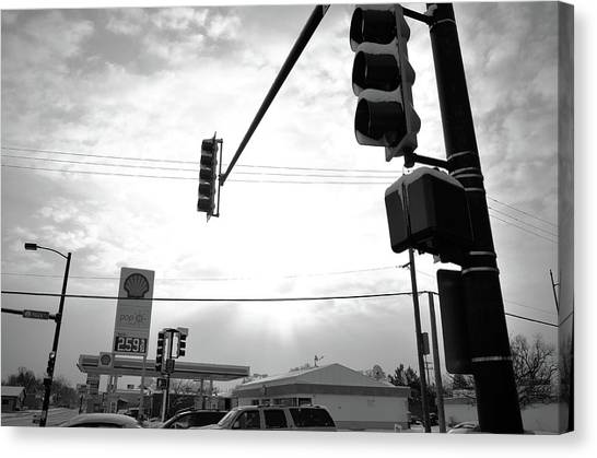 At The Crossing Canvas Print