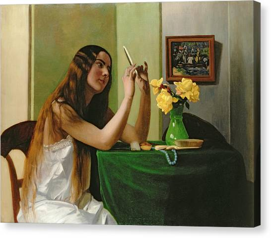 Print On Canvas Print - At The Dressing Table by Felix Edouard Vallotton