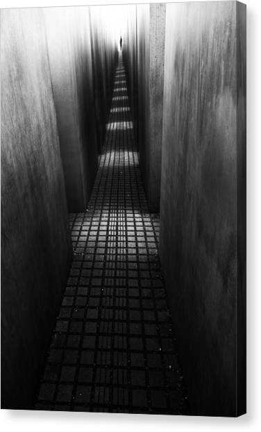 Berlin Canvas Print - At The End Of The Path by Christian Muller