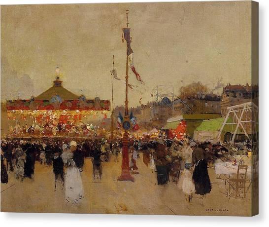 People Canvas Print - At The Fair  by Luigi Loir