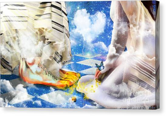 At The Feet Of Jesus Canvas Print