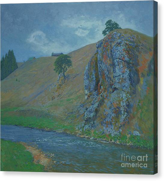 Ural Mountains Canvas Print - At The Foot Of The Plakun Mountain. by Simon Kozhin