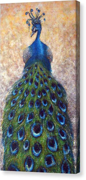 Peacocks Canvas Print - At The Gates by Mark M  Mellon
