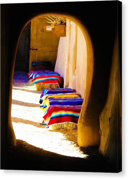 At The Hacienda Canvas Print