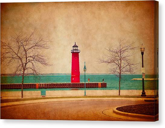 At The Harbor Canvas Print
