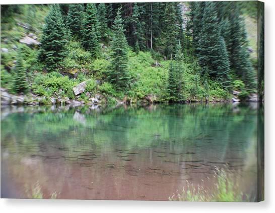 Imaginative Canvas Print - At The Lake by Imagination Signing