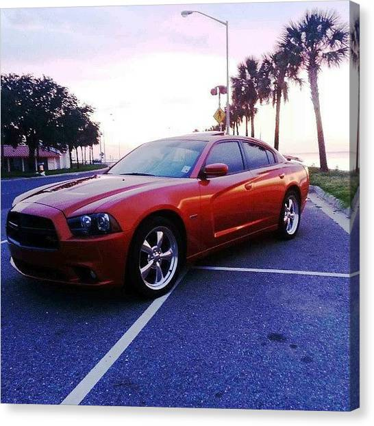 Dodge Canvas Print - At The Lakefront #nofilter by Britt Bassil