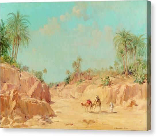 Mirages Canvas Print - At The Oasis by Constant Georges Gaste