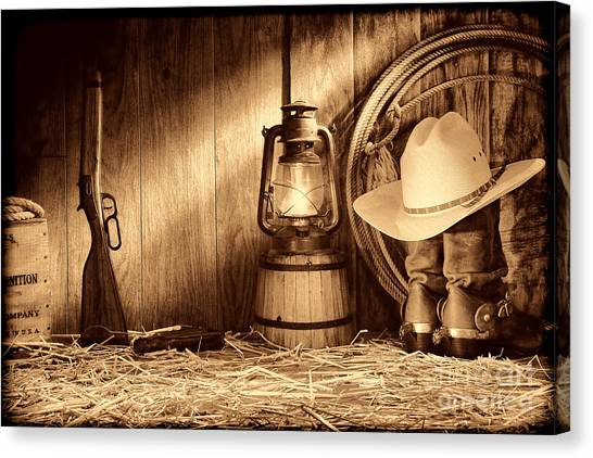 At The Old Ranch Canvas Print