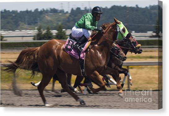 At The Races Canvas Print by Ronald Hanson