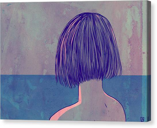 Breeze Canvas Print - At The Sea by Giuseppe Cristiano
