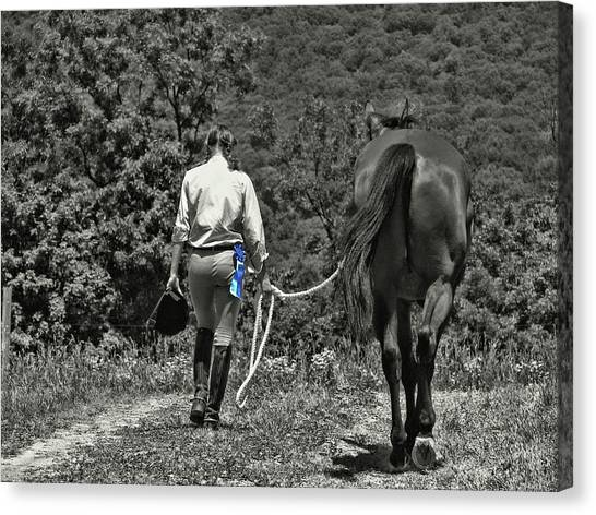 At The Show Blue Ribbon Canvas Print by JAMART Photography