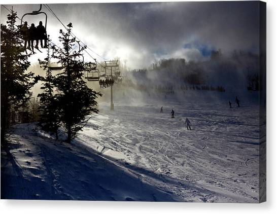 At The Ski Slope Canvas Print
