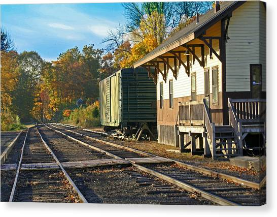 At The Station Canvas Print by Gerald Mitchell