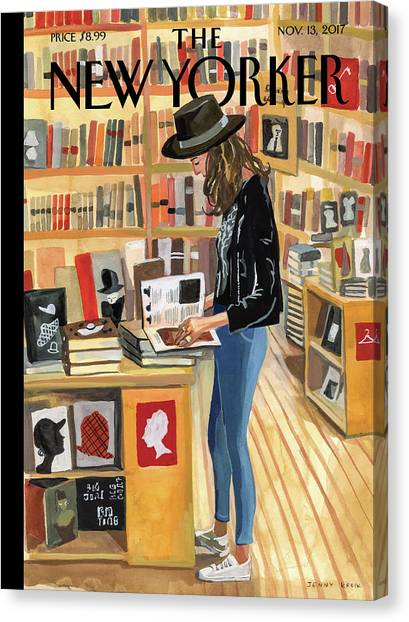 Sneakers Canvas Print - At The Strand by Jenny Kroik