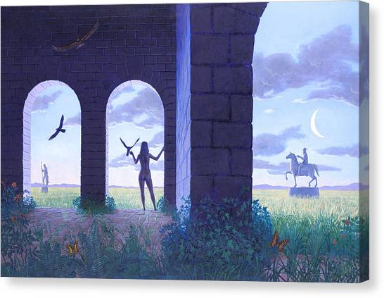At The Threshold Canvas Print by Jonathan Day