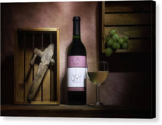 Winery Canvas Print - At The Vineyard by Tom Mc Nemar