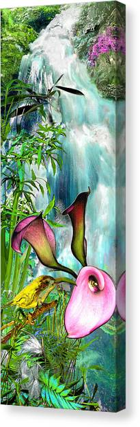 At The Waterfall Canvas Print by Anne Weirich
