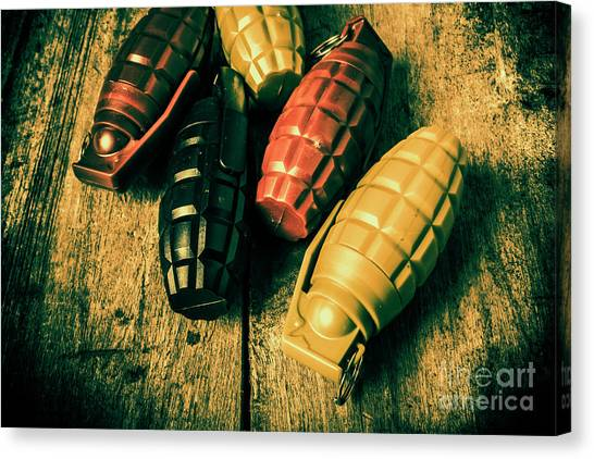 Grenades Canvas Print - At The Wooden Armoury by Jorgo Photography - Wall Art Gallery