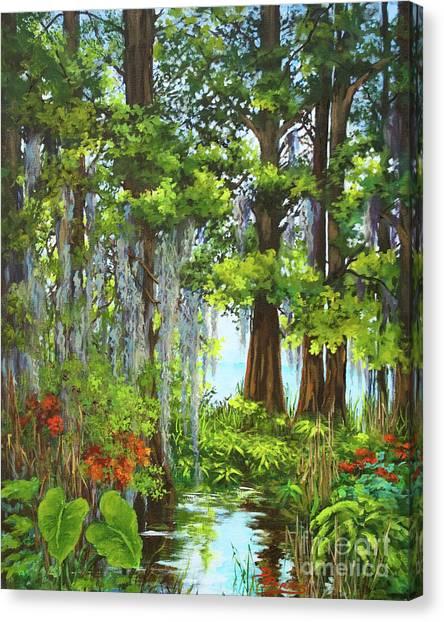 Atchafalaya Basin Canvas Print - Atchafalaya Swamp by Dianne Parks
