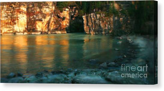 Athabasca At Sunset Canvas Print
