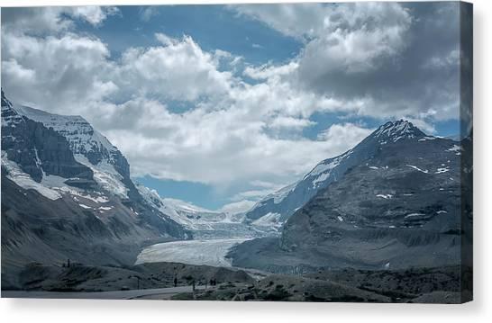 Canada Glacier Canvas Print - Athabasca Glacier Alberta Canada by Joan Carroll