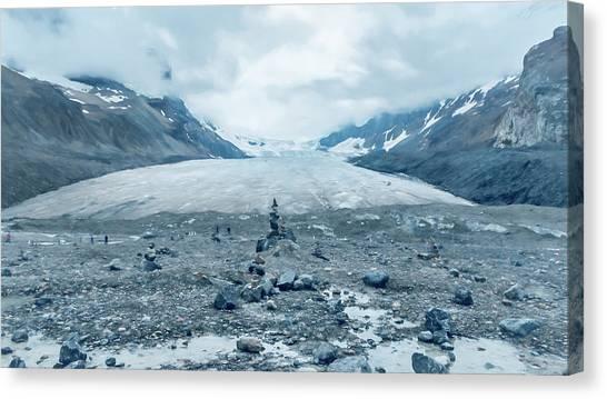 Canada Glacier Canvas Print - Athabasca Glacier Vanishing Act by Joan Carroll