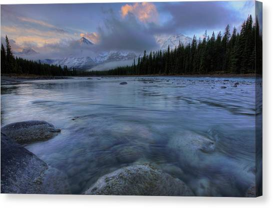 Cloud Forests Canvas Print - Athabasca River Sunrise by Dan Jurak