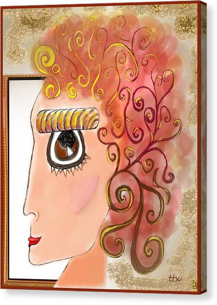 Athena In The Mirror Canvas Print