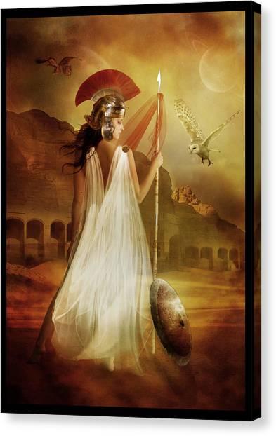Goddess Canvas Print - Athena by Karen Koski