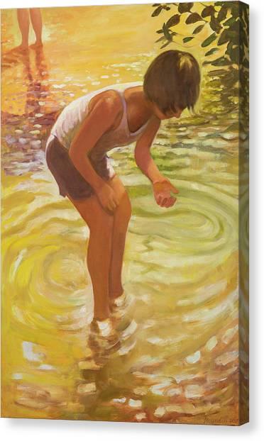 Athena Wading Canvas Print
