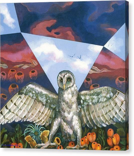 Athena's Owl Canvas Print