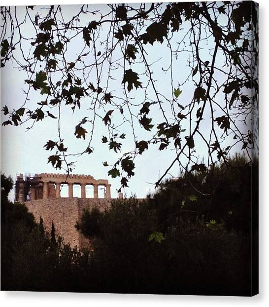 The Acropolis Canvas Print - #athens #greece #acropolis #parthenon by Penny Kouppe Athanasouli