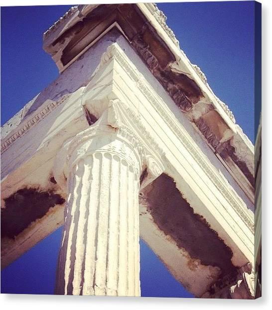 The Parthenon Canvas Print - #athens #greece #parthenon by Christos Mouzeviris