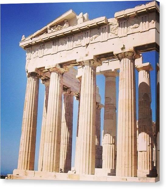 The Parthenon Canvas Print - #athens #greece #parthenon #traveling by Christos Mouzeviris