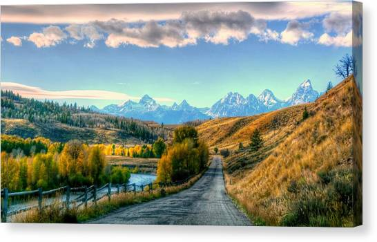 Atherton View Of Tetons Canvas Print