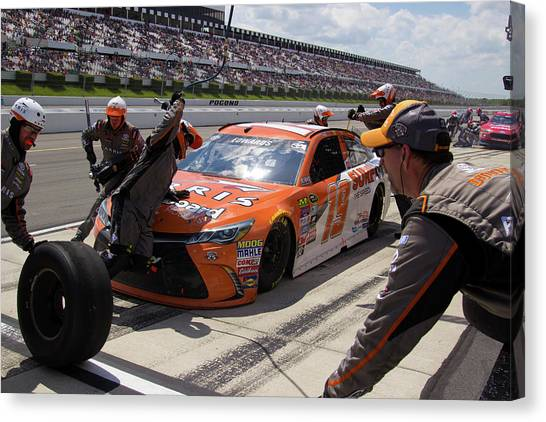 Joe Gibbs Canvas Print - Athletic Mechanics by Mark A Brown