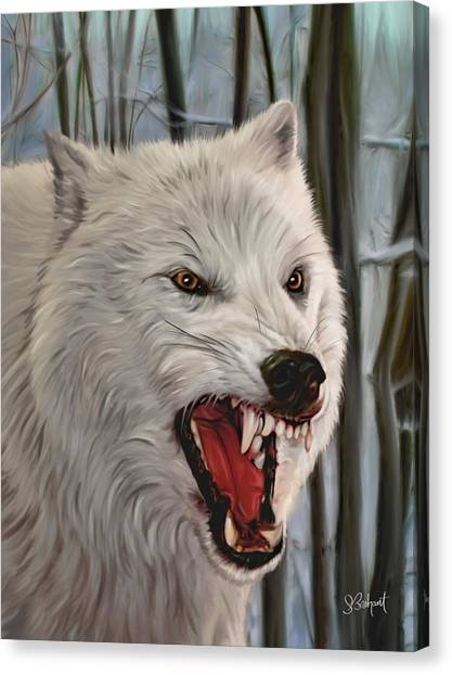 Atka Arctic Grey Wolf Canvas Print