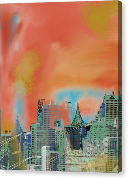 Atlanta Abstract After The Tornado Canvas Print