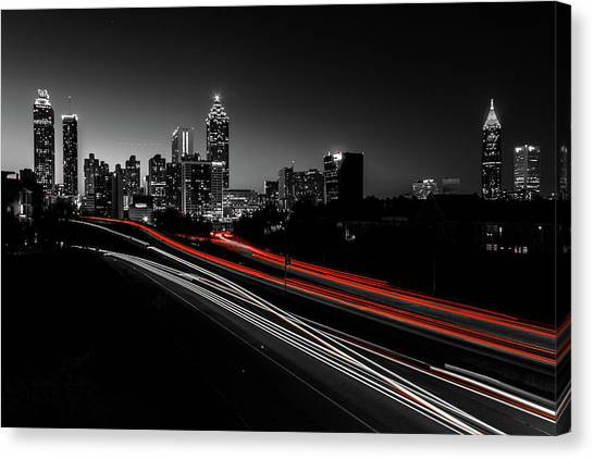 Atlanta Black And White Canvas Print