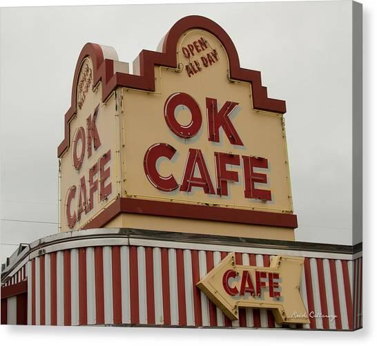 Atlanta Classic Ok Cafe Atlanta Restaurant Art Canvas Print