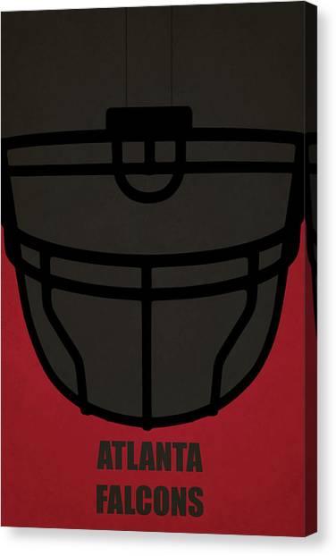 Atlanta Falcons Canvas Print - Atlanta Falcons Helmet Art by Joe Hamilton