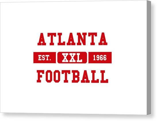 Atlanta Falcons Canvas Print - Atlanta Falcons Retro Shirt 2 by Joe Hamilton