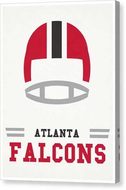 Atlanta Falcons Canvas Print - Atlanta Falcons Vintage Nfl Art by Joe Hamilton