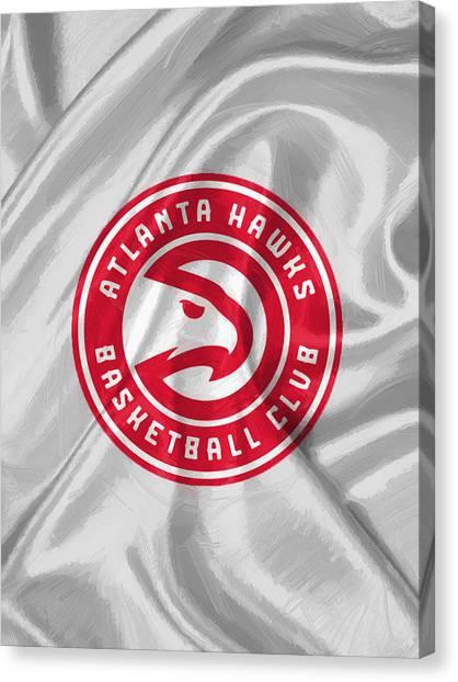 Atlanta Hawks Canvas Print - Atlanta Hawks by Afterdarkness