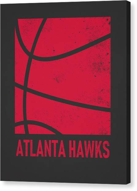 Atlanta Hawks Canvas Print - Atlanta Hawks City Poster Art 2 by Joe Hamilton