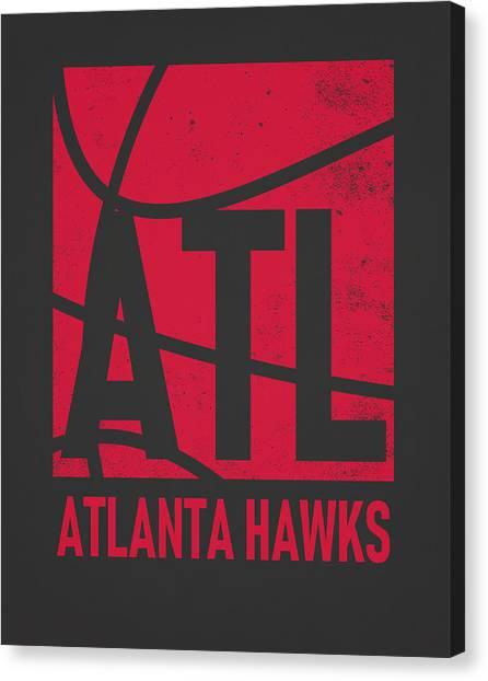 Atlanta Hawks Canvas Print - Atlanta Hawks City Poster Art by Joe Hamilton