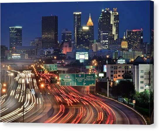Atlanta Braves Canvas Print - Atlanta Heavy Traffic by Frozen in Time Fine Art Photography