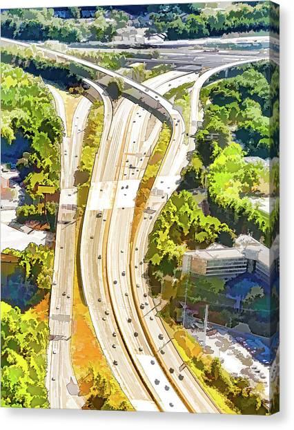 Atlanta Highways Canvas Print