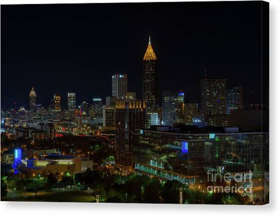 Atlanta Nights Canvas Print